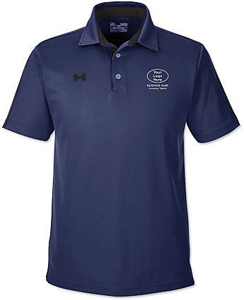 Under armour mens embroidered tech polo shirt for Under armour embroidered polo shirts