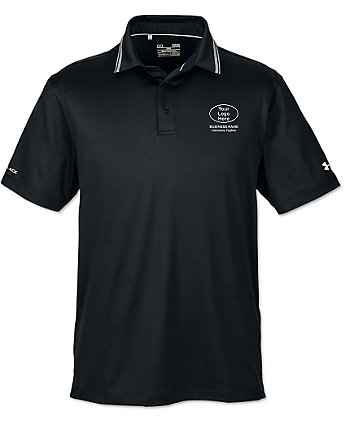 Under armour mens embroidered coldblack polo shirts for Under armour embroidered polo shirts