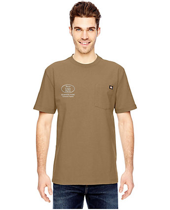 Dickies embroidered heavyweight work t shirt with logo for Embroidered dickies work shirts