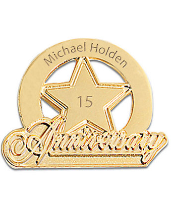 Personalized Anniversary Star Pin