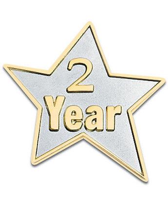 2 Year Star Lapel Pin
