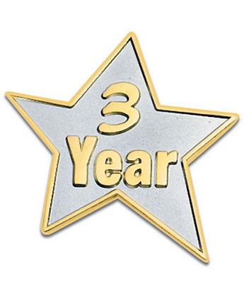 3 Year Star Lapel Pin