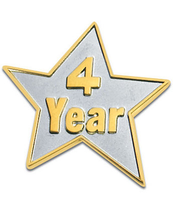 4 Year Star Lapel Pin