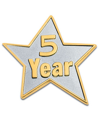 5 Year Star Lapel Pin