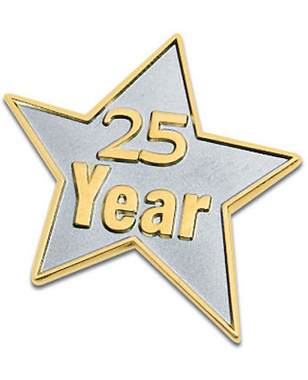 25 Year Star Lapel Pin