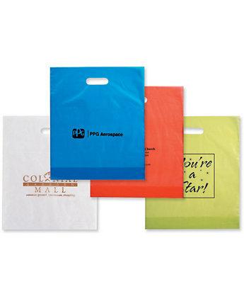 12X15x4 Plastic Die Cut Bags