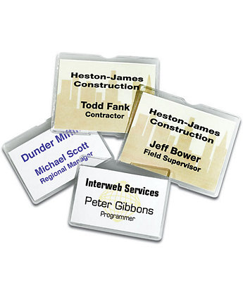 4 X 3 In. Magnetic Badge