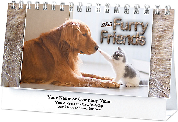 cat and dog desk calendar