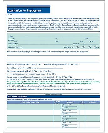 brief summary for job application