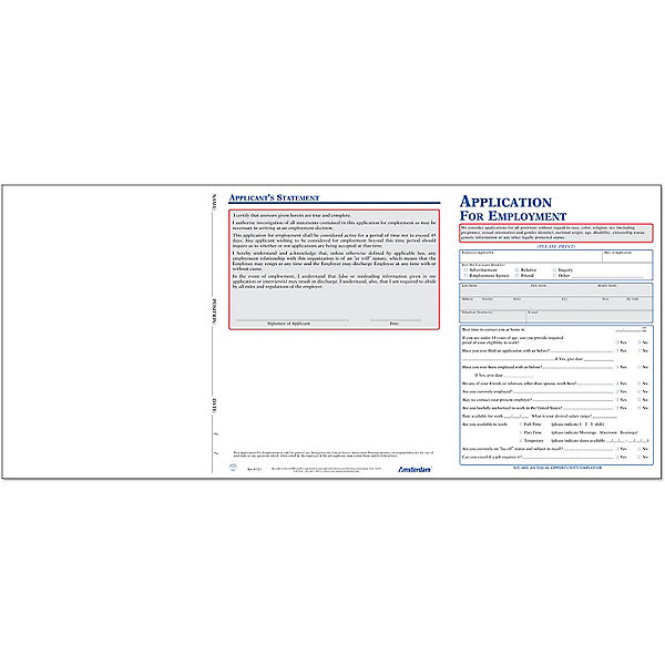 Employee Application Forms, Employment Application