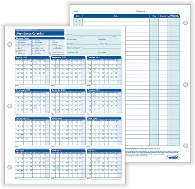 free printable 2018 employee attendance calendar
