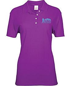 f729dbeb0385 Screen Printed Ladies 100% Cotton Polo Shirt
