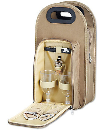picnic wine tote with logo