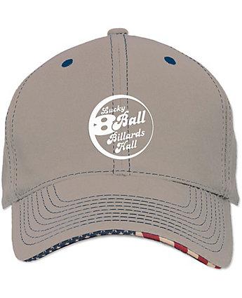 0d012162fd3 Embroidered Cotton Twill Patriot Baseball Cap