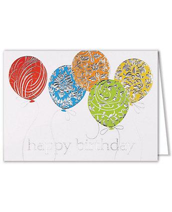 deerfield silver embossed balloons
